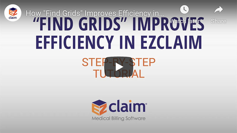 EZClaim - Find Grids Tutorial Video